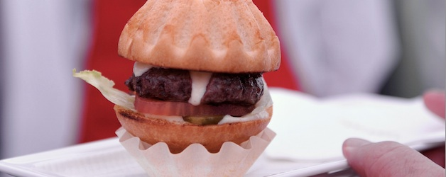 Kobe-Burger, Foto Foodhunter, Foodhunter Genuss-Markt 2012