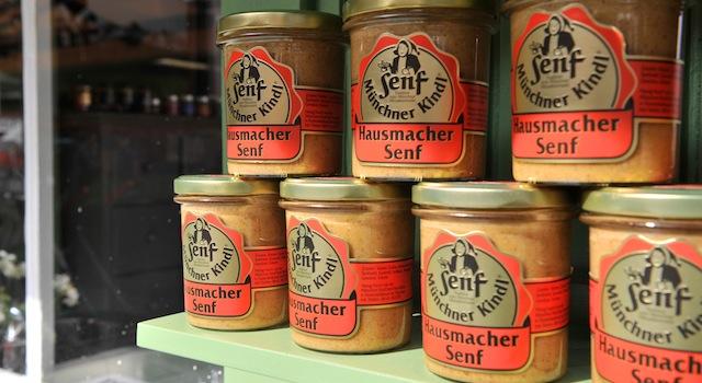 Münchner Kindl Senf. Bio-Senf vom Viktualienmarkt