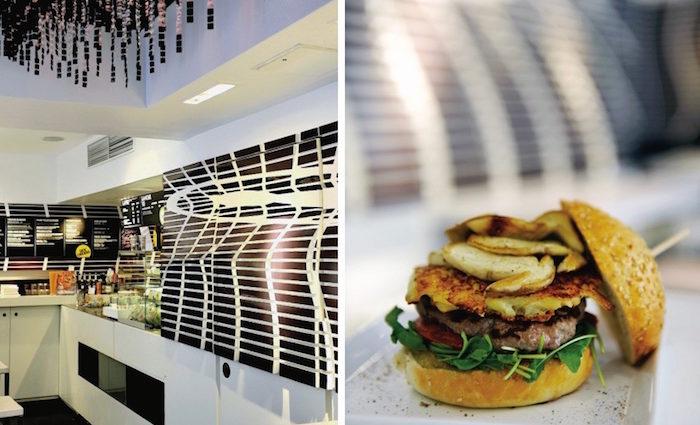 Bioburger und Luxusfleisch. Cosmogrill