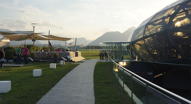 Salzburger Sonneninsel. Hangar-7 Outdoor Lounge