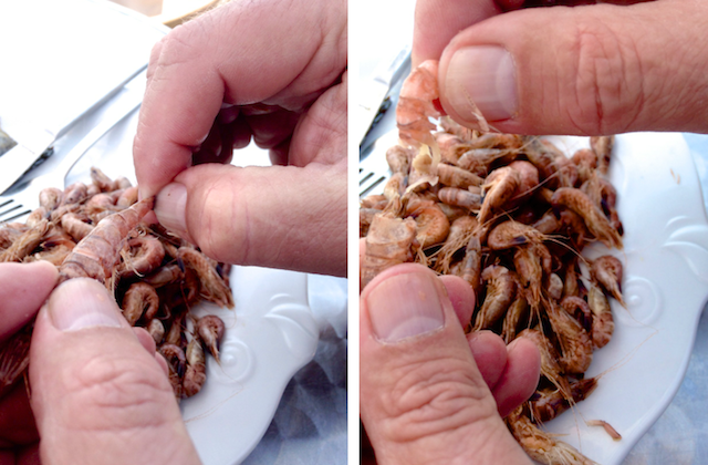 Krabben pulen, Fotos Foodhunter