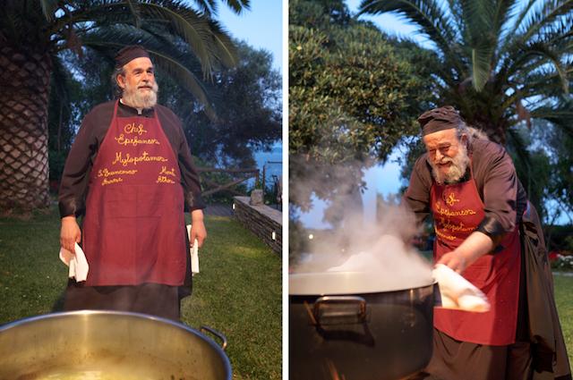 Klösterliche Küche am Heiligen Berg Athos. Frauen haben keinen Zutritt.