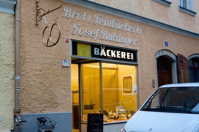 Ein guter Morgen in Passau. Bäckerei Ratzinger