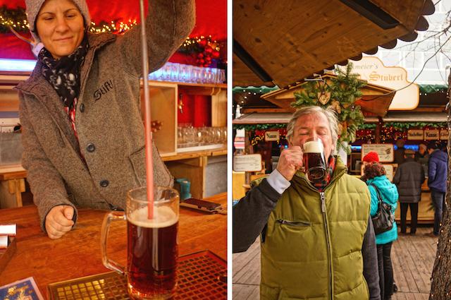 Stachelbier auf dem Weihnachtsmarkt in München