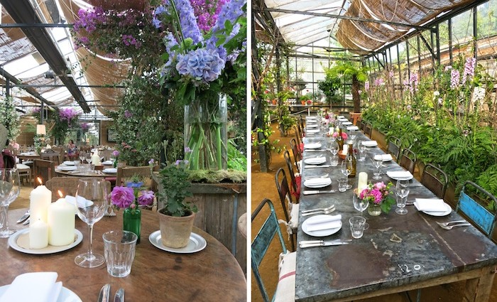 Slowfood-Dinner in Petersham Nurseries