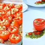 Tomate mit Kichererbsensalat