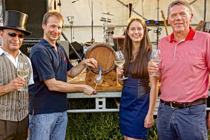 Weinfest Pfalz Maikammer, Karl Schaefer und Weinprinzessin Franziska