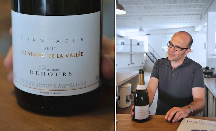 Champagner Jerôme Dehours. Großartig in der Magnum