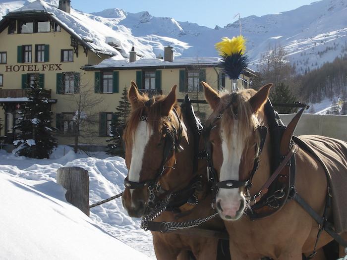 Hotel Fex mit Pferdekutsche