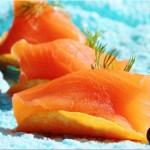 Rezept: Gebeizter Lachs auf Chips